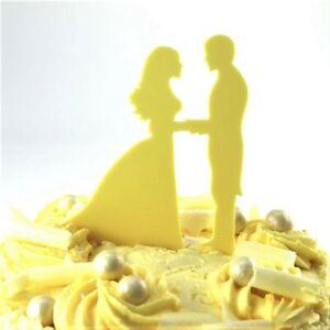 Details Sur Voeux Design Wedding Cake Topper Mariage Fiancailles 54 Couleurs Acrylique Afficher Le Titre D Origine