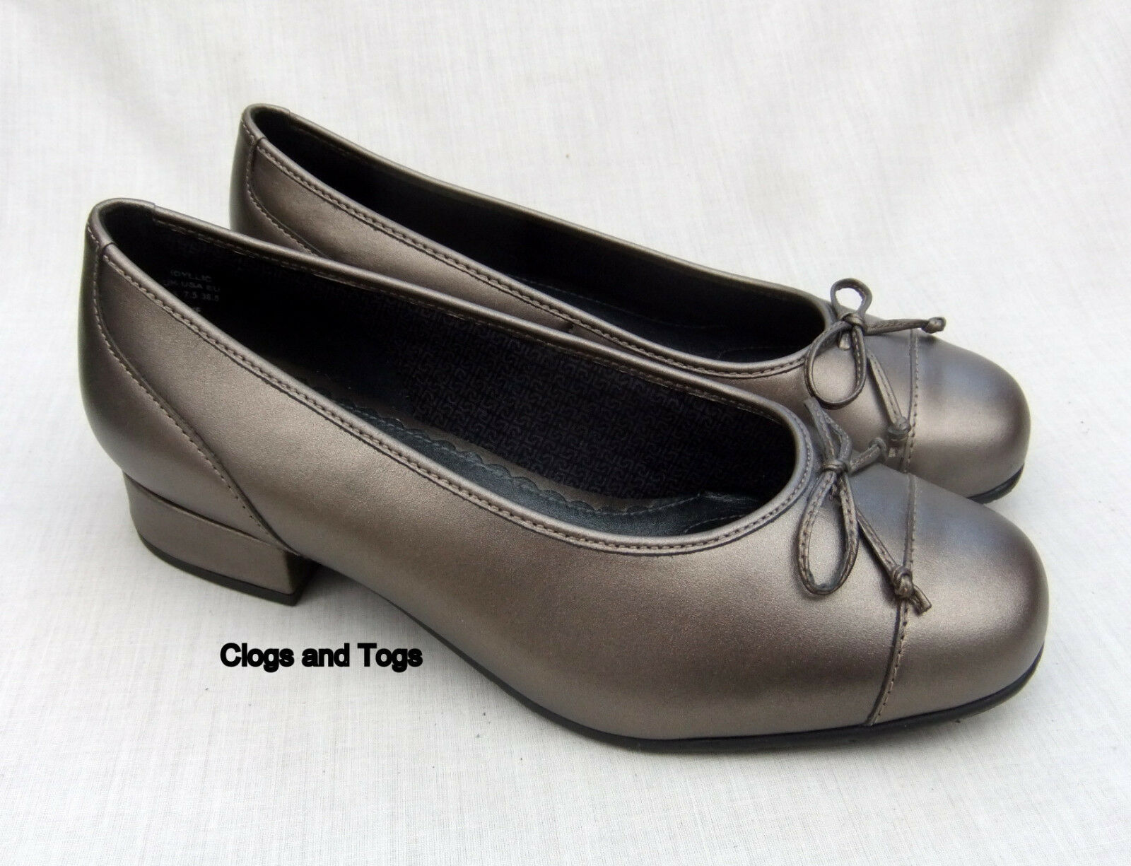 NEW HOTTER IDYLLIC femmes BRONZE LEATHER chaussures Taille 5.5   38.5 WIDE FIT