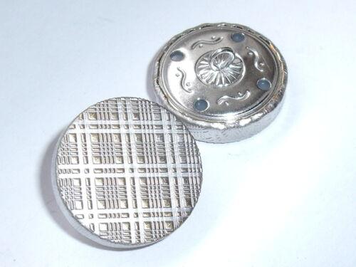 8 Stück Metallknöpfe Knopf Knöpfe Ösenknopf silbergrau 18 mm rostfrei NEU #985#