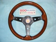 FIAT 500 F/L/R VOLANTE LUISI MONTREAL SPORTIVO IN RADICA + CLACSON LOGO FIAT 34