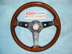 FIAT-500-F-L-R-VOLANTE-LUISI-MONTREAL-SPORTIVO-IN-RADICA-CLACSON-LOGO-FIAT-34