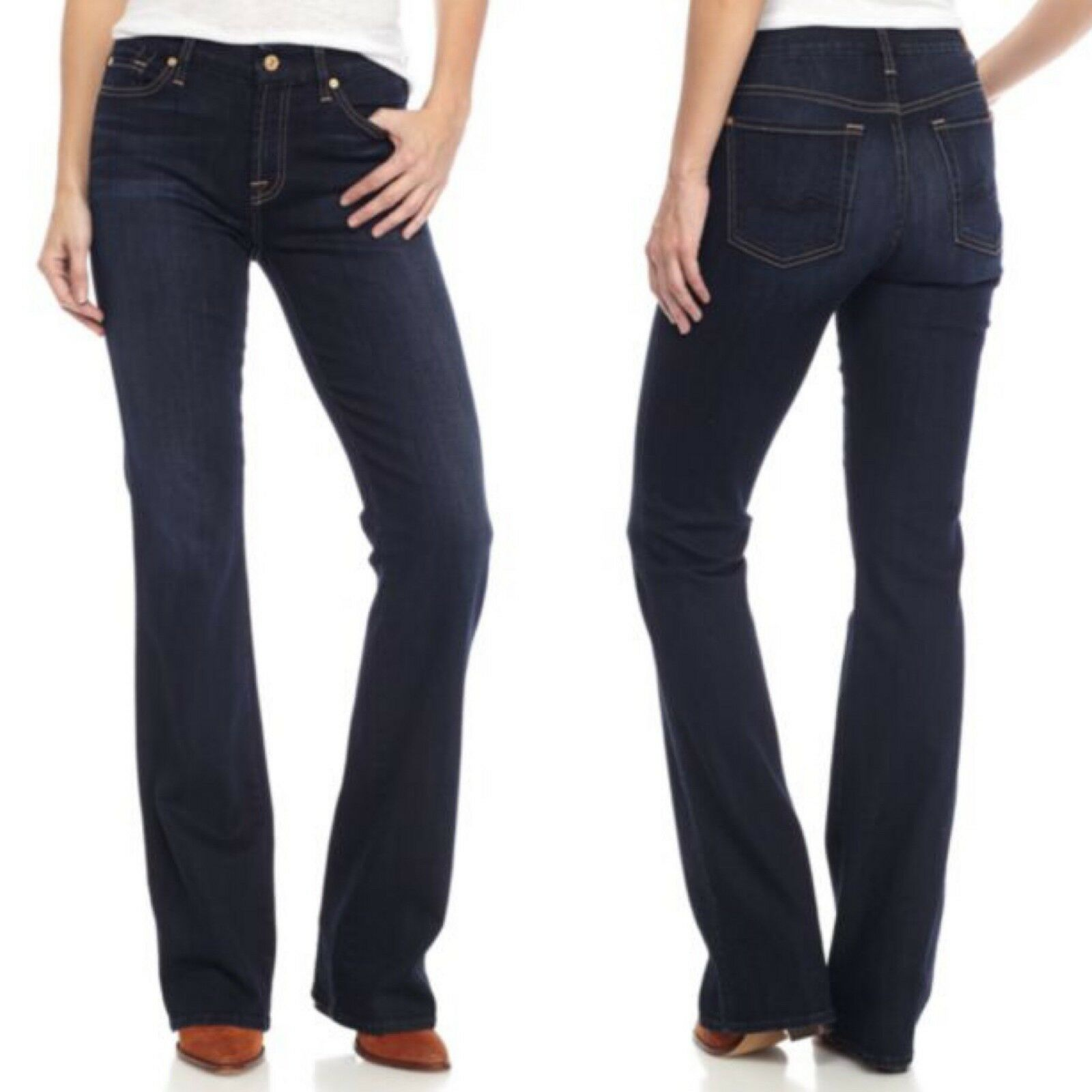 7 For All Mankind Women's Size 27 Kimmie Dark Wash Bootcut Jeans