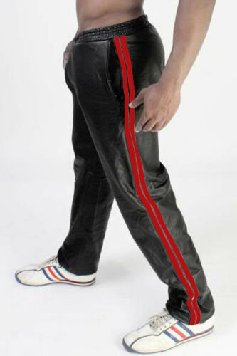 Men/'s Real Leather Jogging Pants Leather Sports Pants Workout Pants IN 3 COLORS