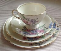 VINTAGE FOLEY E B & Co CHINA TRIO with Extra Side Plate V2053 Made in England