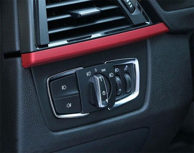 Matt Chrome Headlight switch Frame trim For BMW F30 F31 F32 F34 3 4 Series X5 X6