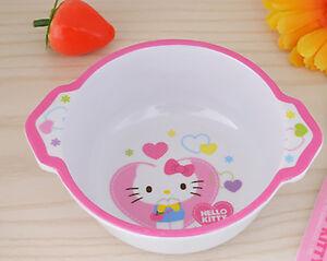 Cute Cartoon Hello Kitty Kids Dinnerware Rice Soup Bowl ...  Cute