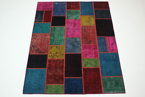 moderne-Patchwork-Delave-Used-Look-PERSAN-TAPIS-tapis-d-039-Orient-2-38-x-1-74