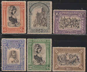 OL12-PORTUGAL-1928-3RD-ANNIV-OF-INDEPENDENCE-6-cos-TO-40-cos-6V-MNH