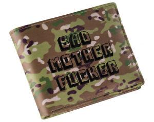 Camo-bestickt-BMF-Bad-MOTHER-FU-er-Pulp-Fiction-Leder-Portemonnaie