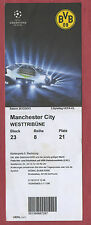 Orig.Ticket   Champions League 12/13   BORUSSIA DORTMUND - MANCHESTER CITY  !!