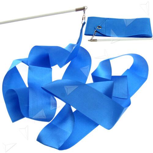 6x 4m Tanzband Gymnastikband Wirbelband Rhythmikband Schwungband mit Stab