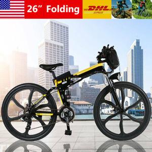 "26"" Folding Electric Bike City Commuter EBike Mountain Bicycle 7 Speed E-Bike /"