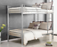 Metal-Bunk-Beds-Frame-Twin-Over-Twin-Size-Ladder-Kid-Teen-Adults-Split-2-Beds thumbnail 2