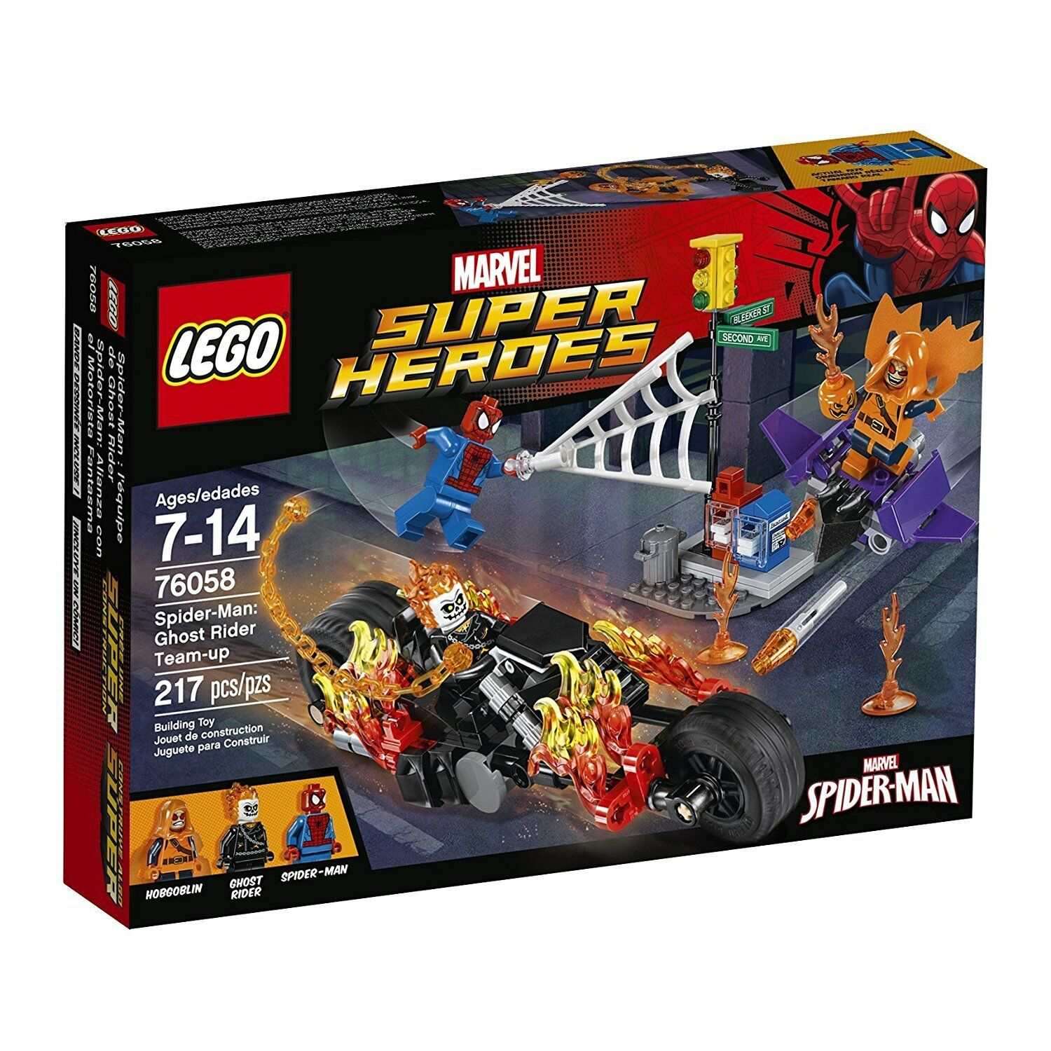 LEGO  SPIDER-MAN: GHOST RIDER TEAM-UP BUILDING SET  Marvel Superheroes 76058