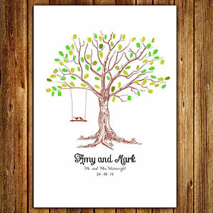 Personalised Wedding Fingerprint Tree - Swing | eBay