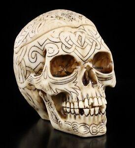 Tribal-Celtic-Skull-Ashtray-Small-Skull-Decorative-Figure-Ascher