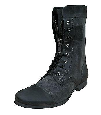 Henleys Men's Sakura Leather/Textile Fashion Boots Grey UK 6-8