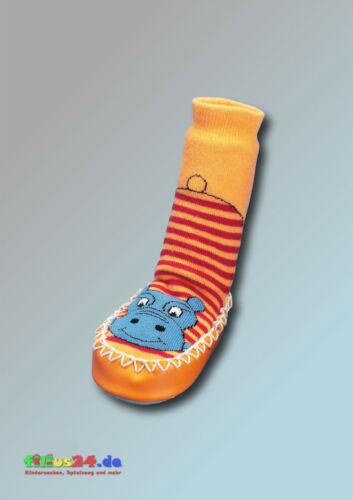 Playshoes Cabanes Chaussure Hausschuh Hippopotame en orange et bleu T 17 à 34