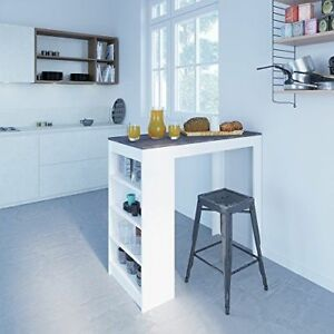 Image Is Loading Breakfast Bar Dining Table Small Kitchen Effect Modern