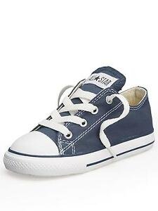 Converse Chuck Taylor Ox Navy Blue White Infant Toddler Boys   Girls ... 6034d21bd