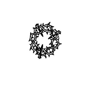 Image Is Loading CROWN OF THORNS Unmounted Rubber Stamp Christian Symbol