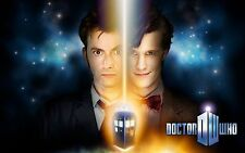 Dr. Who Poster Print 11x17 Featuring David Tennant and Matt Smith