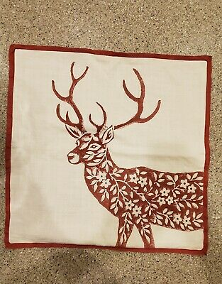 Pottery Barn Dodson Deer Pillow Cover Christmas Reindeer