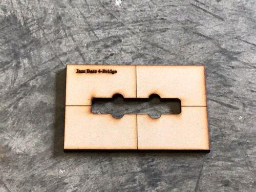 Jazz Bass Neck//Bridge routing pickup set-Luthier routing templates