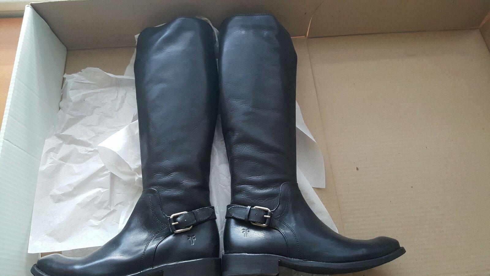 FRYE shirley shield NIB tall boots shoes black black black US 7.5 7ec7c1