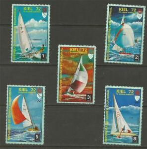 EQUATORIAL-GUINEA-1972-Olympic-Games-Munich-Germany-Yachting-CTO-SET