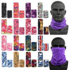 Multi Colors Head Face Mask Snood Neck Tube Outdoor Sport Wrap Shawl Buff Scarfs