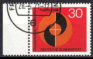 679-Vollstempel-gestempelt-EST-Rand-links-mit-Gummi-BRD-Bund-Deutschland-1971