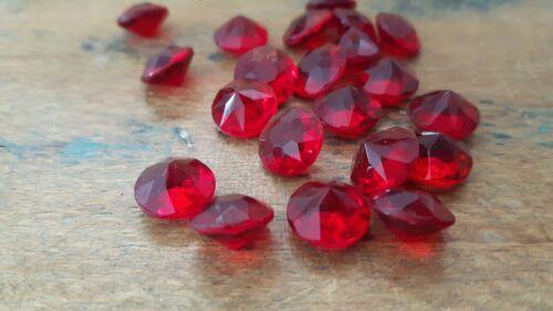 ♡ Nº g21-15 pièces anciennes briques de verre rouge 9 mm pointue sol facettes taille ♡