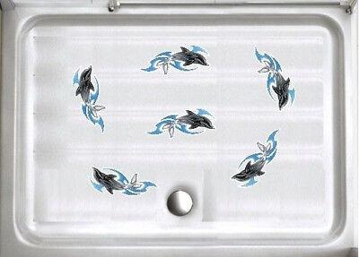 Anti- Rutsch Aufkleber Delfin * Sticker Sicherheit * Dusche ...