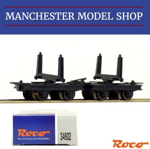 Roco 34602 HOe 1:87 Bogie Bolster wagons 2 piece set 009 9mm gauge NEW BOXED