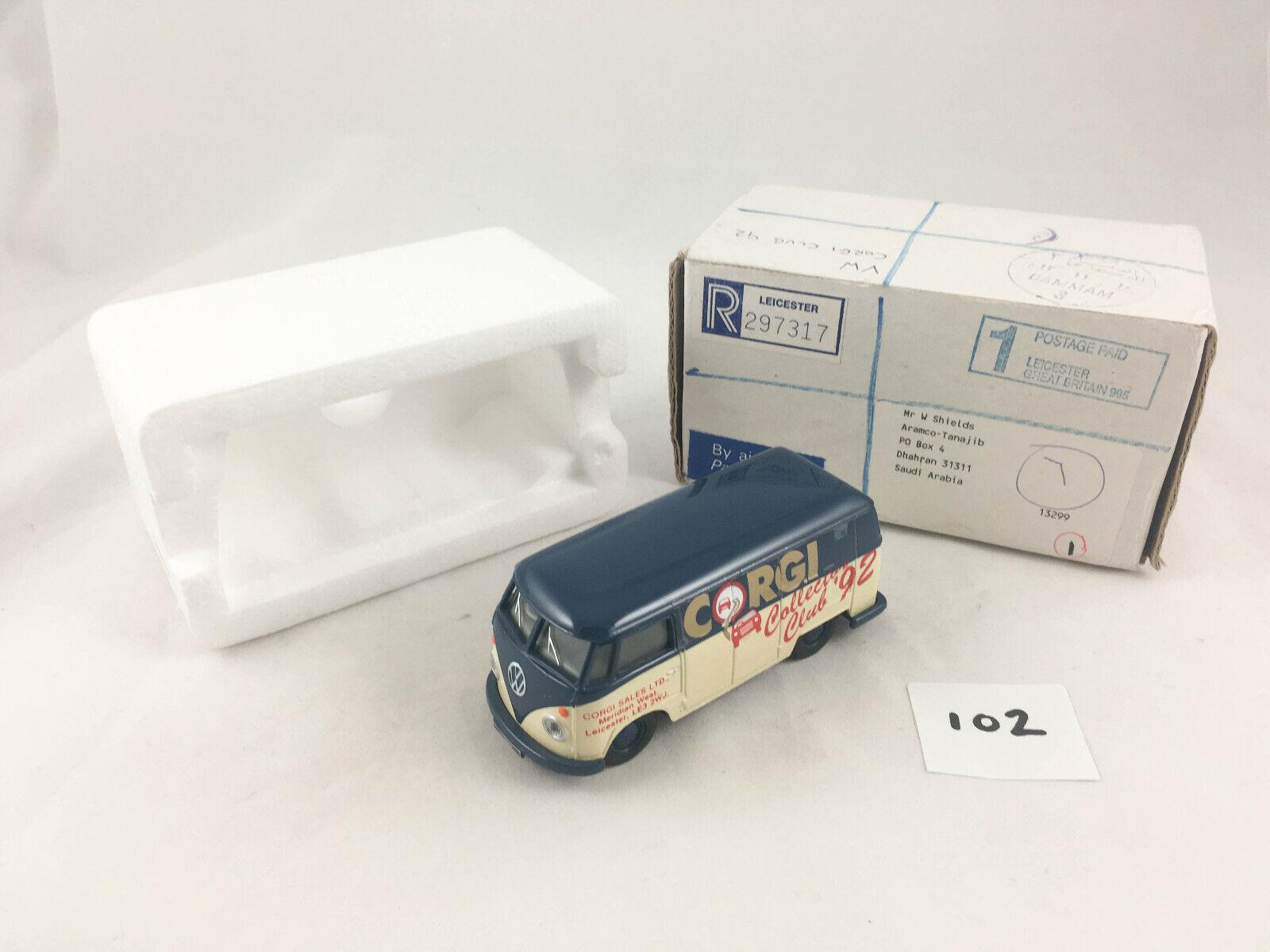 RARE 1992 CORGI CLASSICS COLLECTORS CLUB VW T1 VAN MODEL DIECAST LIMITED EDITION