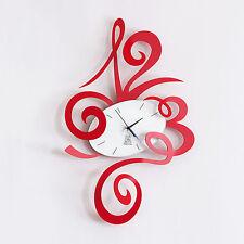 ARTI E MESTIERI ROBIN ROSSO 34X51 cm OROLOGIO DA PARETE  WALL CLOCK LOVE RED
