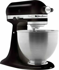 KitchenAid K45SSOB Classic 4.5 Quart Tilt Head Stand Mixer Onyx Black