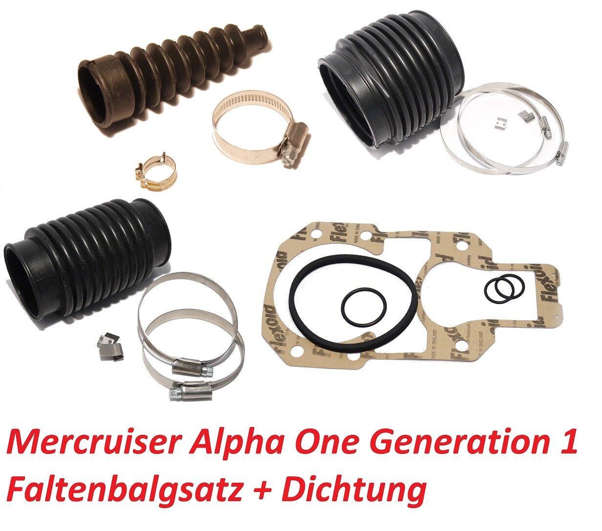 Faltenbalgsatz Mercruiser Alpha Alpha Mercruiser One inkl. Anbaudichtung Wartungs-Kit Z-Antrieb dffa28