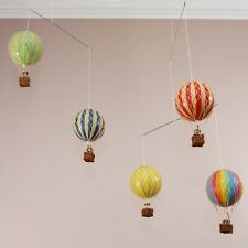 Hanging Mobile Colorful Hot Air Balloon with Pilot Man Nursery Decor Novelty Ornament