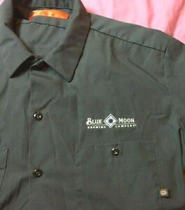 Blue-Moon-Brewing-Company-Dickies-Men-039-s-Work-shirt-XL-Charcoal