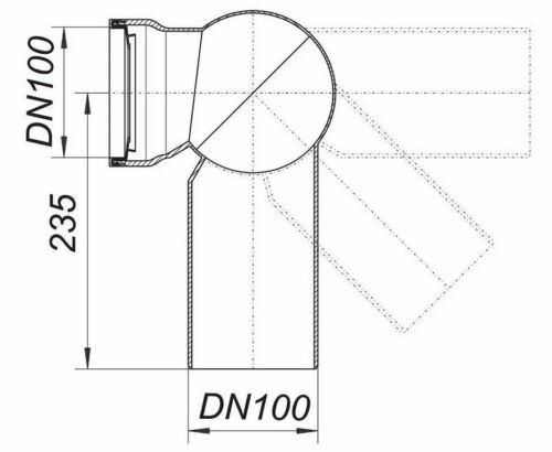 Dallmer Atlasbogen 87 DN100 WC Abfluss Atlas Bogen 280527