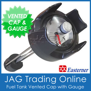 OUTBOARD FUEL TANK CAP WITH GAUGE & BREATHER VENT -For 12L 22L 24L 25L Boat Tank