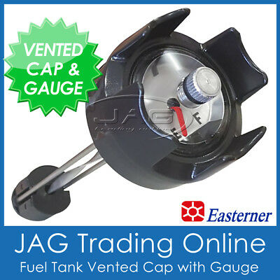 BOAT FUEL TANK CAP WITH GAUGE & BREATHER VENT For 12L 22L 24L 25L Outbaord Tank