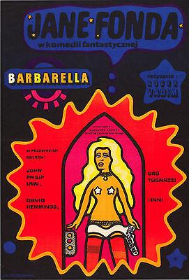 BARBARELLA Movie POSTER RARE Jane Fonda XXX Erotica Sci-Fi