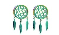 Rainbow Dreamcatcher Tunnel Plugs Sizes / Gauges (0g - 1 Inch) - 1 Pair