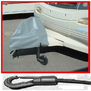 Universal-Caravan-Hitch-Cover-Grey-Trailer-Tow-Ball-Coupling-Lock-Cover