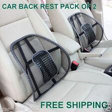 Combo 2piece Car Seat,Office Chair Cushion Back Rest Lumbar Support Mesh Cushion