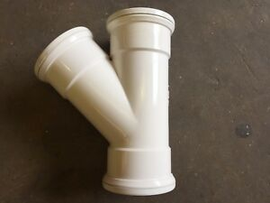 Details about uPVC Push-Fit Soil Pipe 110mm Y Branch - White