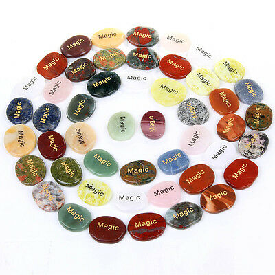 Natural Tumbled Engraved Inspired Words Gemstones Sold By 1pcs